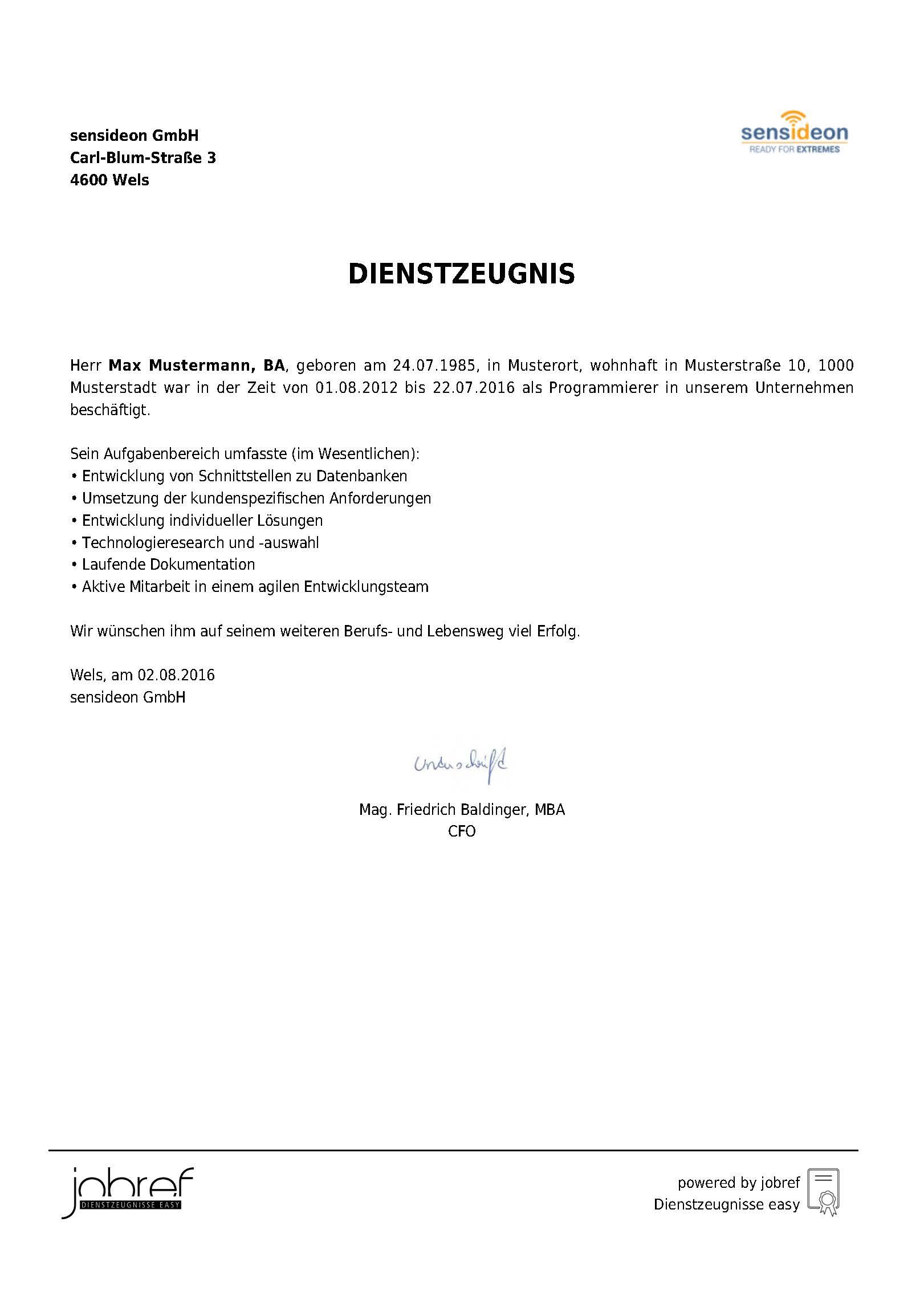 Wunderbar Beispiel Professionelle Referenzen Vorlage Zeitgenössisch ...